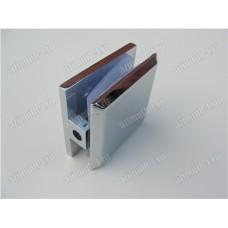 """Коннектор """"стена-стекло"""" 90° цинковый сплав, одно отверстие SAGA-SC1-04Z1"""
