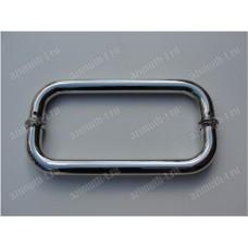 Ручка дверная, дуга, двусторонняя, зеркало SAGA-DHD-02S